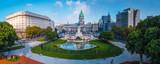 Panorama miasta Buenos Aires. Powietrzna panorama kwadrat blisko Congreso przy słonecznym dniem. Argentyna