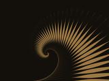 abstrakcyjna fala spiralna tło w złocie na czarno