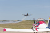 acrobatic plane pass