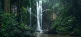 Waterfall Waterfall in nature travel mok fah waterfall