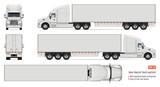 Realistyczna biała ciężarówka wektorowa ilustracja