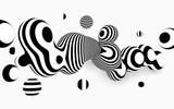 Streszczenie wektor czarno-białe tło. Konstrukcja Metaball z organicznym efektem 3d.