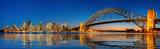 Panorama Sydney schronienie i most w Sydney mieście