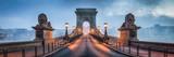 Panorama Mostu Łańcuchowego w Budapeszcie, Węgry
