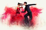 Tańcząca sala balowa. Efekt kolorystyczny kurzu