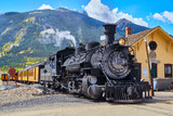 Old Train 1800's Coal Powered in Mountains