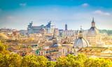 widok na panoramę Rzymu miasta w dzień, Włochy, retro stonowanych
