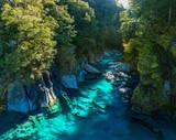 Słynna atrakcja - Blue Pools, Haast Pass, Nowa Zelandia, South Island