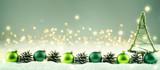 Boże Narodzenie - zimowe tło z świątecznych dekoracji