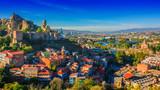 Panoramiczny widok Tbilisi, Gruzja
