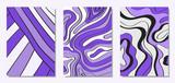 Wektor obejmuje zestaw w stylu wyciągnąć rękę. Abstrakcyjne tła z odręcznymi falistymi liniami i kształtami, spirale, kropki. Ilustracja kreatywnych Hipster. Bazgrać. Abstrakcje wektorowe na ekranie tapety.