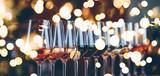 Kieliszki do wina z rzędu. Obiad w formie bufetu z degustacją wina. Koncepcja życia nocnego, uroczystości i rozrywki