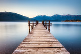 Jetty in Te Anau, New Zealand