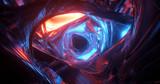 Scena kolorowe światła tunelu sci-fi / fantasy przez jasne światła.
