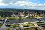 mosty i rzeka, stare miasto Elblag, Polska