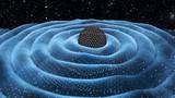Grawitacja macha wokoło czarnej dziury w astronautycznej 3D ilustraci
