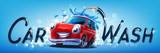 car wash vector banner