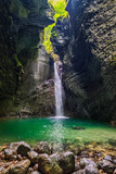 Hidden waterfall in the canyon