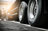 truck transportation, close up truck wheels