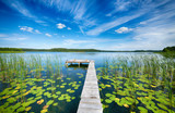 Beautiful summer day on masuria lake district in Poland