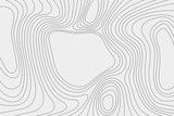 Topography vector illustration. Map on the ground. High lines