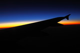 Sunset from an aircraft