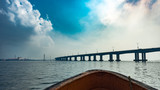 A view of the third mainland bridge from the Lagos lagoon