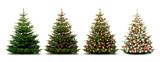 Glänzend Dekorierter Weihnachtsbaum mit Weihnachtskugeln