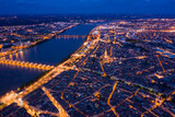 Illuminated Bordeaux city at night