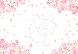 水彩 手描き風 桜 背景イラスト 02