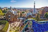 Guell park, Barcelona, Catalania, Spain. Protected by UNESCO