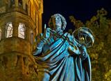 Monument to Nicolaus Copernicus at Market square in Torun.  Poland