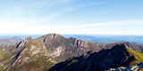 View of mountains from top of Goatfell, Isle of Arran, Scotland
