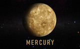 mercury planet in the milky way, solar system, galaxy science creative art background elements of this image furnished by nasa