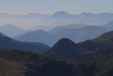 Pyrenees moutains view from top