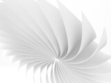Abstract white bent parametric structure, 3d graphic