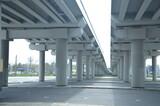 architektura, kolumna, budowa, brydż, gród, droga, kolumna, beton, korytarz, autostrada, budynek, miejski, nora, podróż, opróżnić, droga, niebo, wnętrza, perspektywa, przewóz, ulica, budowa, przewozy,