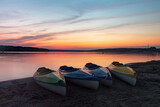 Jezioro Chańcza - zachód słońca
